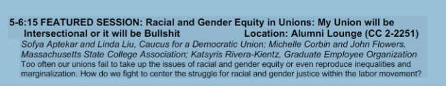 Racial and gender equity in unions panel