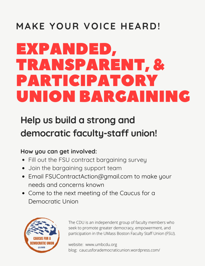 Expanded, transparent, and participatory bargaining FLYER
